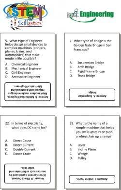 STEM Engineering Cards