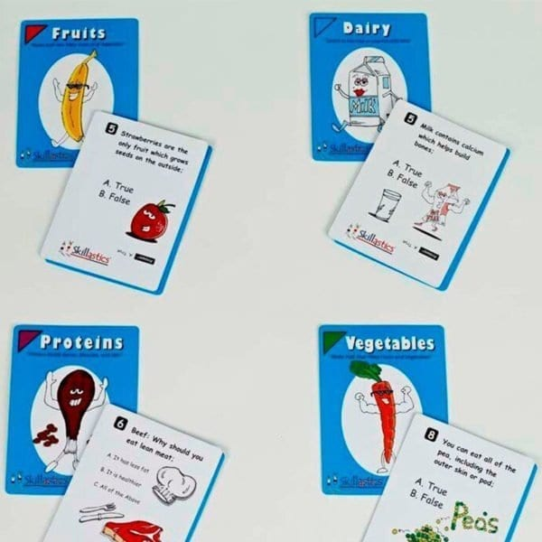 Skillastics Elementary Nutritional Cards Nutrition Literacy