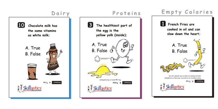 Skillastics® Elementary Nutritional Cards Nutrition Literacy
