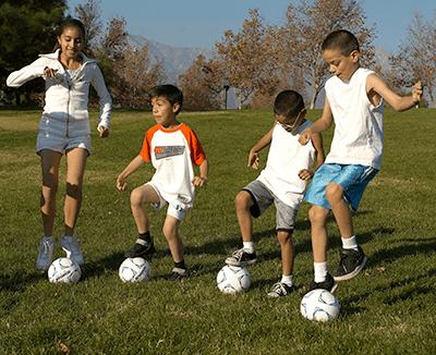 Soccer Skillastics in Motion