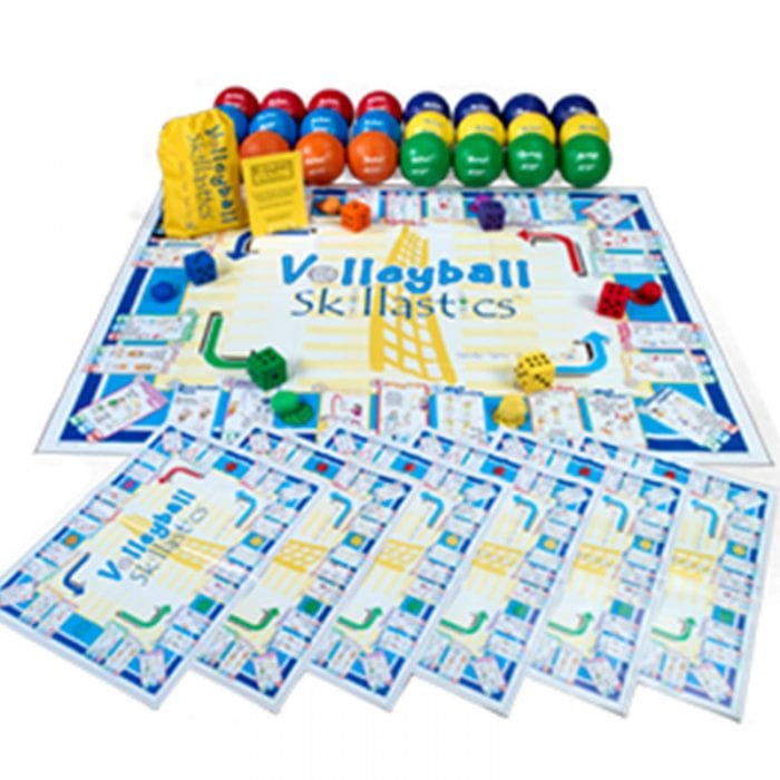 Volleyball Skillastics® and 24, Multi-Colored Volleyball Ball Package
