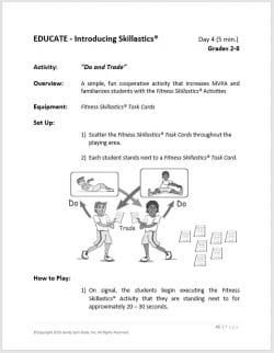 After School Fitness Skillastics® Lesson Plan Guide 2
