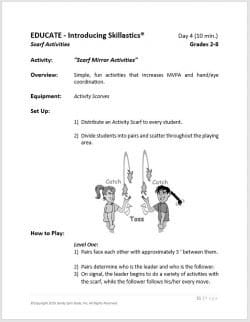After School Fitness Skillastics® Lesson Plan Guide 3